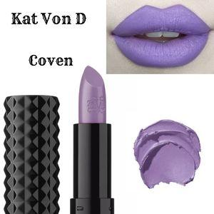 * HP* Kat Von D studded kiss creme lipstick Coven